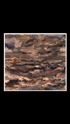 "Eugène Leroy - "" La mer à Wiessant "", 1953 - Oil on wood - 92 x 103 cm"