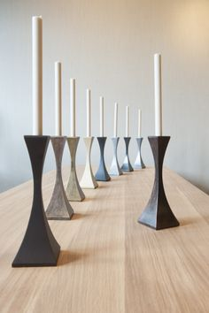 Our Capricorn #candlesticks in different finishes! http://www.tomfaulkner.co.uk/