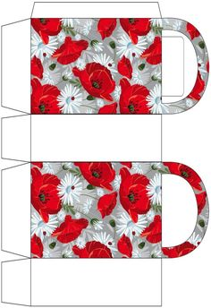 Poppies and Pansies Party Bag Diy Gift Box, Diy Box, Paper Box Template, Printable Box, Printables, Paper Purse, Sewing To Sell, Paper Crafts Origami, Party Bags