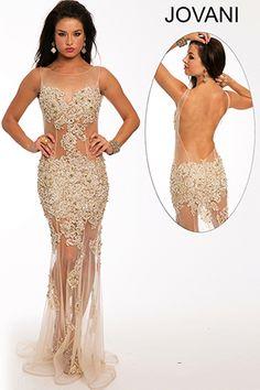 Sheer Nude Prom Dress 98883