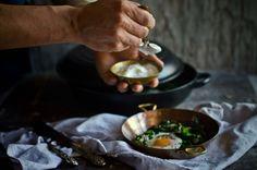 Ovos com espinafres