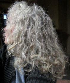 Grey Hair, curly