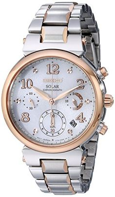 Seiko Womens SSC862 Analog Display Analog Quartz Two Tone Watch * Click image for more details.Note:It is affiliate link to Amazon. #ilikeyou