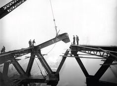 Taken between 1927 and 1929, these images show the gradual assembly of the iconic Tyne Bridge. You can see the engineers and workers balancing high over the river; the huge arch finally meeting in mid air; and the day of celebrations and festivities when the bridge was officially opened by King George V. The 2015 Tyne Bridge calendar is available to buy now from our online shop for £9.99. http://www.shoptwmuseums.co.uk/constructing-the-tyne-bridge-2015-calendar-10654-p.asp Gateshead Millennium Bridge, Bridge Structure, Newcastle Gateshead, Bridge Construction, Over The River, England, Archive, Create, Building