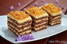 Kávés-karamellás szelet **Katt a képre, ha érdekel a receptje is** Hungarian Cake, Hungarian Recipes, Cookie Recipes, Dessert Recipes, Delicious Desserts, Yummy Food, Sweet Cakes, International Recipes, Flan