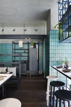 Ocean & Merchant's Moon Green Cheese Restaurant Concept, Cafe Restaurant, Restaurant Design, Restaurant Ideas, Design Hotel, Commercial Interior Design, Commercial Interiors, Hotel Interiors, Hospitality Design