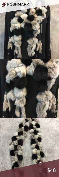 """742633fb029c Italian Rabbit Fur Scarf Real rabbit, so it s extremely soft, roughly 80""""  long"""