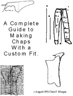 chaps pattern free source http Western Show Clothes, Horse Show Clothes, Leather Tooling Patterns, Leather Pattern, Shotgun Chaps, Cowboy Gear, Leather Projects, Leather Crafts, Western Shirts