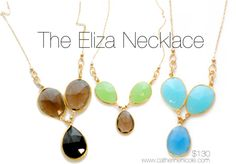 The Eliza Necklace: dainty and classy! #statementjewelry #statementnecklace