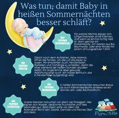 Was tun, damit Baby in heißen Sommernächten besser schläft?