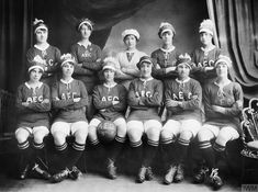 Female munitions workers were encouraged to play sport, especially football, and many factories set up their own ladies teams. This photograph shows a women's football team from the Associated Equipment Company (AEC) Munitions Factory at Beckton, London. World War One, First World, Female Police Officers, Women In History, Uk History, New Opportunities, Football Team, Female Football, School Football