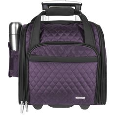 This underseat carry on bag also comes with a matching back-up tote bag to carry extra clothes or last-minute buys.