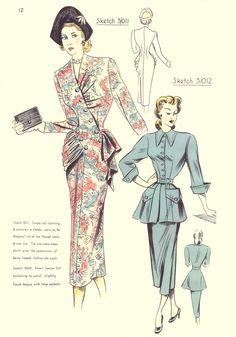 Inspiration :: 'Vintage pattern/c1948 Pattern Cutting Fashion Design Images' 카테고리의 글 목록