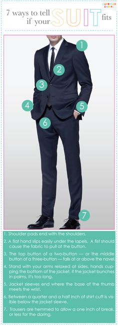 7 Ways To Tell If His Suit Fits, get a perfectly fitting, modern suit