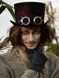 Steampunk Cybergoth Goggles Victorian Goggles by SteampunkHatMaker