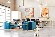 Tour the Stylish Office of a Hip Los Angeles Company via @mydomaine