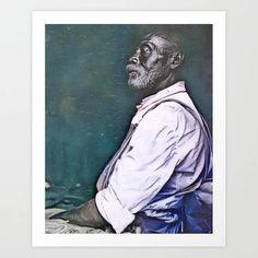 Musician Sam Ballard ('Old Dad'), New Iberia, Louisiana 1934 (uncaptioned) Art Print Louisiana, Colorized History, New Iberia, Meet The Artist, Buy Frames, Printing Process, Gallery Wall, Dads, Art Prints