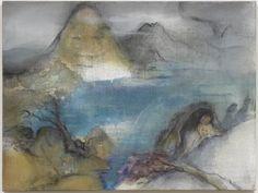 LEIKO IKEMURA L1, 2012 pigment, ink, oil on jute 120.00 x 160.00 cm (47 7/29 x 63 in.) LI009