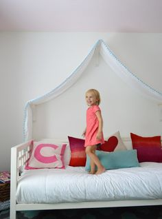 Young House Love | Making A Sweet & Simple Bed Canopy