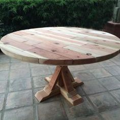 That 39 S My Letter X Is For X Base Circular Dining Table DIY
