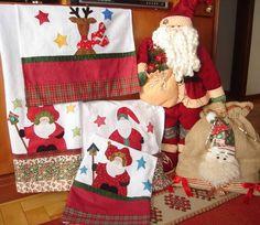 Panos de Copa Natal com aplicações em tecidos importados e nacionais. R$ 41,32