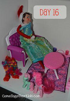 The Elf on the shelf~Elf on a Shelf Playing Dress-Up