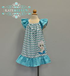 Girls Frozen Elsa dress  Ice Princess Dress  Elsa by KateandLulus, $34.00