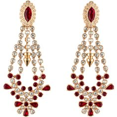 Pre-owned Mawi Crystal Chandelier Earrings ($325) ❤ liked on Polyvore featuring jewelry, earrings, accessories, brinco, mawi, gold, mawi jewelry, crystal jewellery, chandelier earrings and crystal jewelry