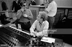 Photo of SIMON GARFUNKEL Columbia Records recording studio New York