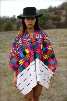 Huipil LOVE Guatemalan Chevron Folk Art Gypsy Hand Embroidered by Vdingy, $125.00