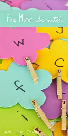 Fine motor lowercase and capital letter match for spring. (via Learn, Play, Imagine) Preschool Literacy, Literacy Activities, In Kindergarten, Preschool Activities, Spring Activities, Childhood Education, Kids Education, Early Learning, Kids Learning