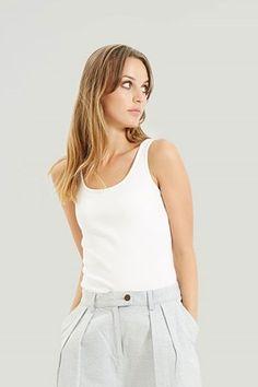 Alexis Vest in Eco White