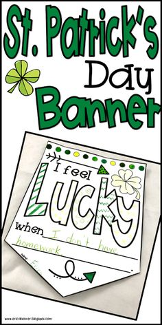 Hi all! I am back with a St. Patrick's Day themed blog post to help you find ideas to celebrate St. Patrick's Day with your students. ...