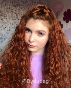 1970s Hairstyles, College Hairstyles, Cute Curly Hairstyles, Wedding Hairstyles, Vintage Hairstyles For Long Hair, Curly Ginger Hair, Curly Hair Care, Curly Hair Styles, Wavy Hair Men