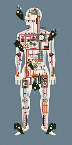 Human Body by Adam Quest, via Behance