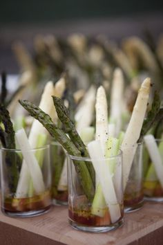 Green & White Asparagus Hors d'Oeuvres | @catherine gruntman Hall Studios