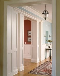 moulding around doorway ༺༻ Crown Molding Adds Character to your Rooms.  www.IrvineHomeBlog.com Contact me for any  Inquires about the Communities & Schools around #Irvine, California. Christina Khandan Your Investment Specialist #RealEstate #Home