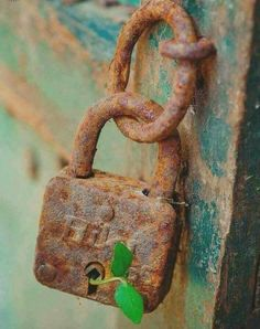 It's a reminder that below the abandoned, rusty, locked away, deep recesses within that have been long forgotten, there is always more to come. Rust Never Sleeps, Knobs And Knockers, Peeling Paint, Rusty Metal, Foto Art, Belle Photo, Vintage Photos, Abandoned, Nature Photography