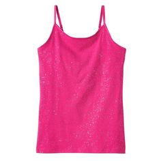 Girls 7-16 & Plus Size SO® Strappy Tank Top, Girl's, Size: 18 1/2, Med Pink