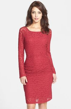 Laundry by Shelli Segal Ruched Lace Body-Con Dress available at #Nordstrom