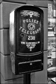 An old New York police call box. Alexandria still had a few call boxes when I started in 1988, but no more.
