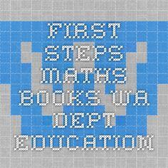 First Steps Maths Books - WA Dept Education