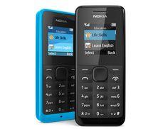 El Nokia 105 fue presentado con una gran ventaja a su favor: la duración de su batería, que dura hasta 35 días, además de su bajo costo de 15 euros, pero tiene el pequeño detalle, que no es un Smartphone como cualquiera esperaría.