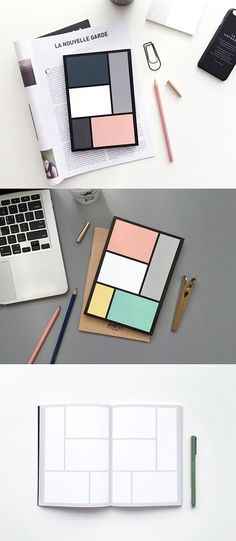 The Editor Scrap Notebook is a colorful and versatile notebook great for lots of different uses! This notebook has 160 pages of notes, and has a unique 5 blocks look! You can use this notebook to manage your personal or work schedules, scrapbooking with use of the blocks, or record your days or special experiences!