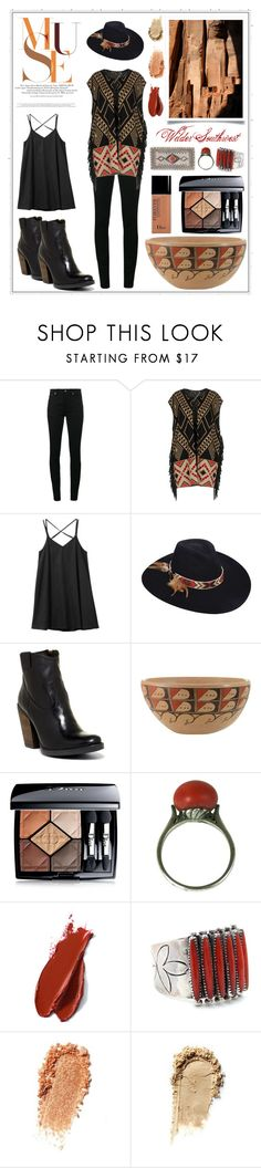 """""""Wilder Southwest:  Desert Muse"""" by wildersouthwest ❤ liked on Polyvore featuring Yves Saint Laurent, Space Style Concept, RVCA, Brooklyn Hat Co., Musse & Cloud, Christian Dior, Balmain and Child Of Wild"""