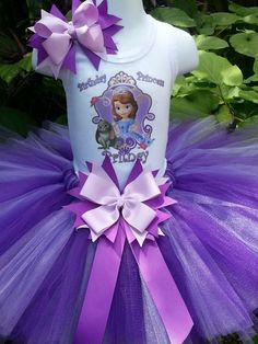 Handmade Disney princess Sophia inspired Tutu set, Sophia the first, birthday  tutu, princess in training, photo shoot, pageant,