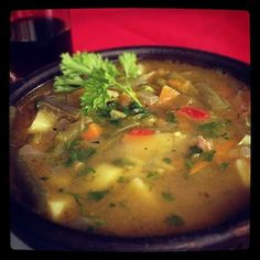 Carbonada. Sopa tipica chilena