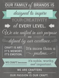 Colorbok_misiionstatement  Craft is art - it is more than a past time.