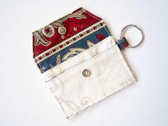 Mini key chain wallet/ simple ID Key chain / by HeartStreet