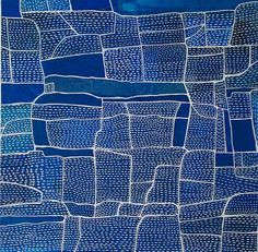 Shane Drinkwater Field trip 6 2017 acrylic on paper 51 x 51cm